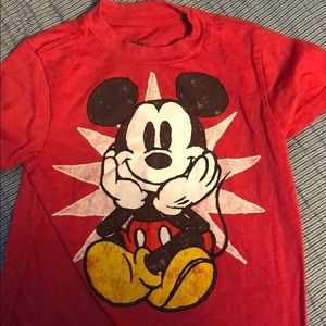 Red Mickey Mouse Shirt